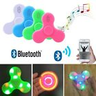 Bluetooth Speaker Hand Fidget Spinner LED Flash Light Finger EDC Bearing Stress