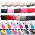 Womens Zipper Leather Long Purse Ladies Clutch Bag Wallet Card Holder Handbag