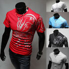 Men Handsome Crew Neck Cotton Tops Short Sleeve Slim Fit T-shirt Shirt Tee L-3XL