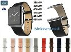 Solid Leather Strap Band Bracelet Watchband For Apple Watch Series 3/2/1