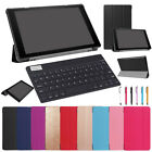 Hot For Amazon Kinlde Fire 7 / HD 8 / 10 2017 Bluetooth Keyboard +Leather Cover