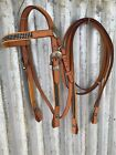 Western Bridle and Split Reins with diamonties -  COB