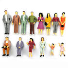 100x Building Layout Model People Train HO Scale Painted Figure Passengers