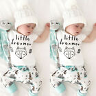 US Stock Baby Girl Boy Little dreamer Outfits Short Sleeve T-shirt+Pants Clothes
