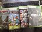 Lot of Grand Theft Auto V, Assassing Creed BF, Call Duty, MinaCraft Xbox 360