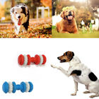Rubber Dumbbell Pet Dog Chew Toys Puppy Teeth Gum Cleaning Training Play Toys
