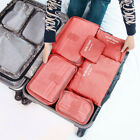 6Pcs Waterproof Travel Storage Bags Luggage Organizer Pouch Packing Cube Box
