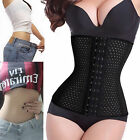 Waist Training Corset Cincher Body Shaper Shapewear Steel Boned Underbust US