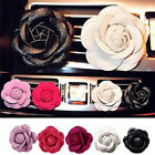 Car Vehicle Camellia Flower Air Outlet Perfume Clip Freshener Diffuser Ornament#