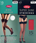 SILKY SUPERSHINE PLAIN TOP STOCKINGS IN VARIOUS SHADES