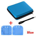 2In1 Hard Shell Carrying EVA Bag+Soft Silicone Bumper Case Cover fr Nintendo 2DS
