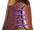 Coloured Purple Waxed Shoelaces 70cm or 95cm Long For Mens Shoes Leather Brogues