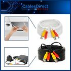 Premade CCTV Cable RG59 For Security Camera BNC Power Video Wire White Black Lot