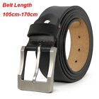 2018 New Casual Mens Belt for Jeans 100% Genuine Leather Belt Big Size 105-160cm