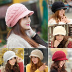 Women's Ladies Beret Winter Warm Baggy Beanie Knit Crochet Hat Slouch Ski Cap