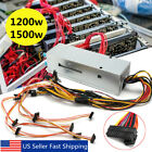 1200/1500W 6GPU 24Pin Mining Power Supply For ETH Rig Ethereum BTC Coin Miner US