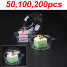 50/100/200 Plastic Cupcake Boxes Muffin Holder Cases Domes Cups Pods UK SELLER