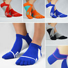 Mens Toe Socks Cotton Athletic Running Ankle Five Finger Crew Socks Summer Sport