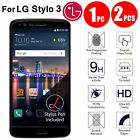 Premium Screen Protector Tempered Glass Protective Film Guard For LG Stylo 3 New