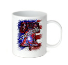 Coffee Cup Travel Mug 11 15 Oz Patriotic USA Give me Liberty Death Bell America