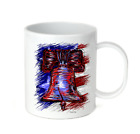 Coffee Cup Travel Mug 11 15 Oz Patriotic USA America American Liberty Bell