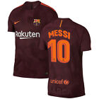 Nike FC Barcelona 2017 - 2018 Third Messi #10 Soccer Jersey Maroon Kids - Youth
