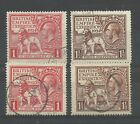 1924/5 Both Sets of Wembley Issues, Sg 431-433, Very Fine used.