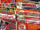 Vintage 12x30 SF 49ers Super Bowl Champs Pennant Joe Montana (.99 Ship on 2nd ) $16.14 USD on eBay