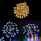 100 LED Solar Powered Garden Party Xmas String Fairy Lights Outdoor Christmas