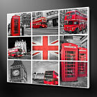 LONDON COLLAGE CANVAS PICTURE PRINT WALL ART FREE FAST DELIVERY