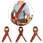 Brown Suede Guitar Straps Embroidered Folk Guitar Electric Bass Straps Belts X1