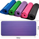 10MM Thick Non-slip Yoga Mat Exercise Fitness Pilates Gym Cushion Pad 72''x24''
