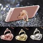 Universal Phone Bling Diamond Heart Finger Ring Holder For Phone LJ