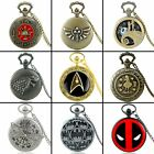 Antique Steampunk Pocket Watch Quartz Vintage Necklace Pendant Chain Gift Retro image