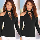Women's Ladies Clothes Round Collar Casual Blouse Tops Loose Long Sleeve T-shirt