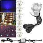 6 x Mini 19mm 0.4W 12V LED Deck Path Lights Outdoor Garden Steps Stairs Lighting