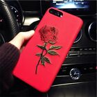 1 Unique EMBROIDERY ROSE CASE For iPhone X 7 8 6 6S Plus, Phone Cover Cases