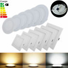 Dimmable 6W 9W 12W LED Recessed Ceiling Downlight Panel Light Fixture Kit Round
