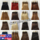 Reusable Double Side Tape in Skin Weft Indian Remy Real Human Hair Extensions 7A