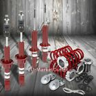 DNA Red Gas Shock Absorbers +Black Coilover Red Lowering Spring For 88-91 Civic