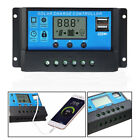 LCD Solar Panel Battery Regulator Charge Controller Dual USB 10A/20A30A 12V/24V