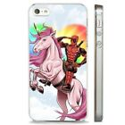Deadpool Unicorn Funny DC Comic CLEAR PHONE CASE COVER fits iPHONE 5 6 7 8 X