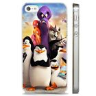Pengiuns Of Madagasca Cartoon CLEAR PHONE CASE COVER fits iPHONE 5 6 7 8 X