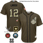 Francisco Lindor Cleveland Indians Mens Salute to Service Military Camo Jersey