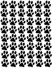 60 Paw Prints, Cat Dog, Vinyl Wall Car Sticker, Self Adhesive Decal