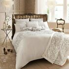 KYLIE MINOGUE LUXURY BEDDING SETS ACCESSORIES CUSHION SATIN LOOK SEQUINS NATURAL