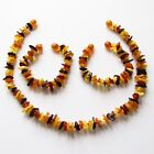Baltic natural amber necklace or/and bracelet anklet baby to children, multi