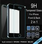 X2 FILM tempered glass tempered glass FRONT+BACK for IPHONE 5 5S 9H 2.5D