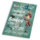 Alice In Wonderland Bonkers - Vintage Art Print Poster - A1 A2 A3 A4 A5