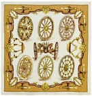 Authentic Vintage Hermes Silk Scarf ROUES DE CANONS Cathy Latham White